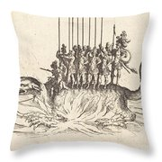 Entry Of Monseigneur Henry De Lorraine, Marquis De Moy, Under The Name Of Pirandre Throw Pillow