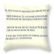 Ernesto Che Guevara Speaking 3 Throw Pillow