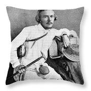Ernst Haeckel, Naturalist And Artist Throw Pillow