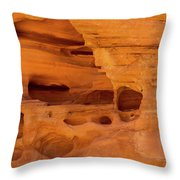 Eroded Sandstone Valley Of Fire Throw Pillow