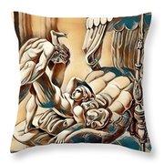 Erotic Abstract Three Throw Pillow