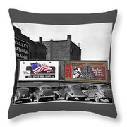 Errol Flynn They Died With Their Boots On 1940 Prescott Arizona Color Added 2011 Throw Pillow