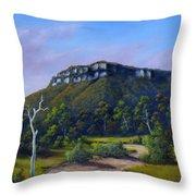 Escarpment Road Throw Pillow