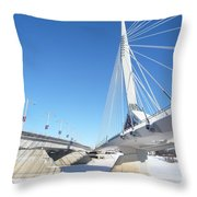 Esplanade Riel Throw Pillow