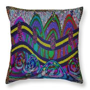 Ethnic Wedding Decorations Abstract Usring Fabrics Ribbons Graphic Elements Throw Pillow