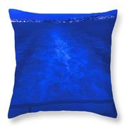Evening Fast Ferry Throw Pillow