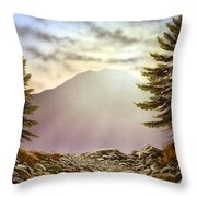 Evening Trail Throw Pillow
