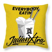 Everybody Eatin Throw Pillow