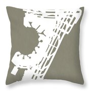 Ewr Newark Liberty International Airport In Newark Usa Runway Si Throw Pillow
