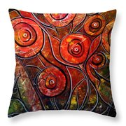Exotic Foliage Throw Pillow