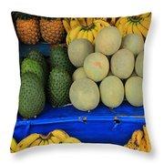 Exotic Fruit Market Throw Pillow