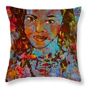 Exotic Princess Throw Pillow