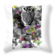 Exploding Head Throw Pillow
