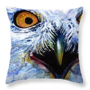 Eyes Of Owls No. 15 Throw Pillow