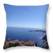 Eze's Garden Panoramic Throw Pillow