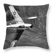 F-86 Jet Fighter Plane Throw Pillow by Granger