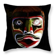 Face Of Totem Throw Pillow