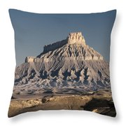 Factory Butte 0562 Throw Pillow