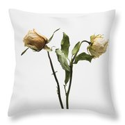 Faded Rose Flower Throw Pillow