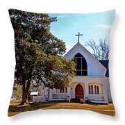 Fairhope Sacred Heart Church Throw Pillow