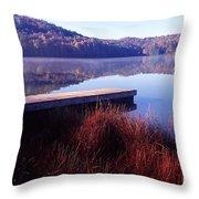 Fall Morning On The Lake Throw Pillow