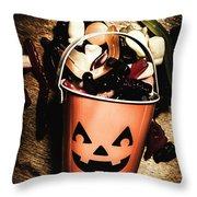 Fall Of Halloween Throw Pillow