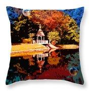 Fall Orbit Throw Pillow