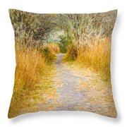 Fall Pathway 3 Throw Pillow