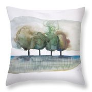 Family Trees Throw Pillow