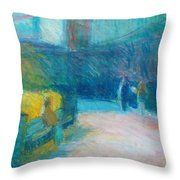 Fan Pier, Boston Throw Pillow