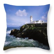 Fanad Lighthouse, Co Donegal, Ireland Throw Pillow