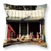 Fancy Outhouse Throw Pillow