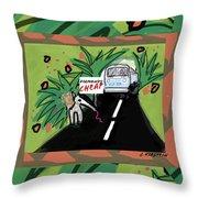 Fantasy Animals Catch A Bus Throw Pillow