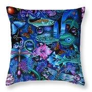 Fantasy Aquarium Throw Pillow