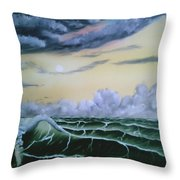 Fantasy Seascape Throw Pillow
