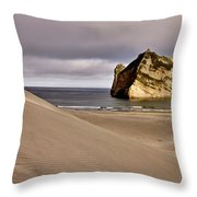 Farewell Spit New Zealand Throw Pillow