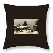 Farm In The Dales Throw Pillow