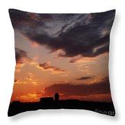Farmer's Sunrise Throw Pillow