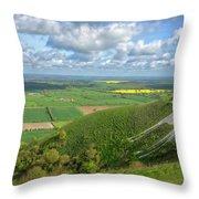 Farmlands. Throw Pillow