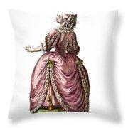 Fashion: French, 1778 Throw Pillow