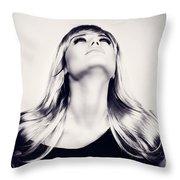 Fashion Women's Portrait Throw Pillow