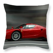 Fast Throw Pillow