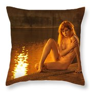 Fawnya Frolic Throw Pillow