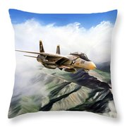 Fear The Bones F-14 Throw Pillow