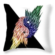 Feathered Ying Yang  Throw Pillow