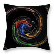 Feel Happy-colorful Digital Art That Can Enhance Your Mood Throw Pillow