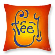 Feel Joy Throw Pillow