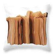 Liquid Nude Throw Pillow