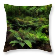 Ferns Of The Forest Throw Pillow