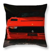 Ferrari 208 Gtb Turbo. Throw Pillow